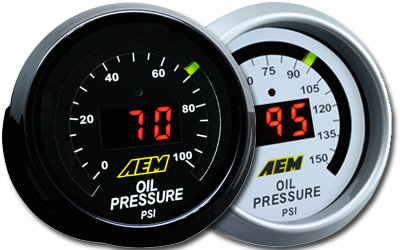 AEM 52mm Oil/Fuel Pressure Gauge Digital 0-100psi