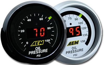 AEM 52mm Oil/Fuel Pressure Gauge Digital 0-100psi