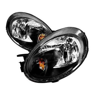 SRT-4 OEM Style Black Housing Headlights