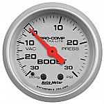 Autometer Ultra-Lite 52mm 30 PSI Mechanical Boost Gauge