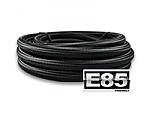 -6AN Black Nylon Braided Hose, E85 Safe