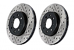 SRT-4 Stoptech Drilled & Slotted Rotors and Hawk Brake Pads Package